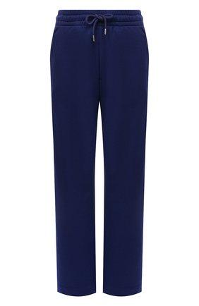 Женские хлопковые брюки DRIES VAN NOTEN синего цвета, арт. 212-011112-3608 | Фото 1 (Материал внешний: Хлопок; Женское Кросс-КТ: Брюки-одежда; Стили: Спорт-шик; Силуэт Ж (брюки и джинсы): Прямые; Длина (брюки, джинсы): Стандартные)