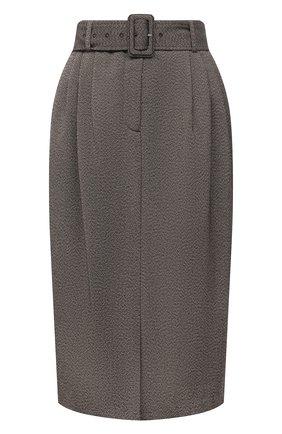Женская юбка DRIES VAN NOTEN коричневого цвета, арт. 212-010851-3042 | Фото 1 (Материал внешний: Синтетический материал, Шерсть; Материал подклада: Вискоза; Длина Ж (юбки, платья, шорты): Миди; Стили: Кэжуэл; Женское Кросс-КТ: Юбка-одежда)