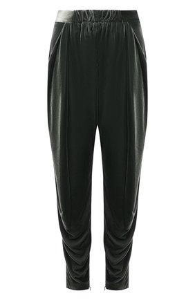 Женские брюки из вискозы и шелка GIORGIO ARMANI зеленого цвета, арт. 1WHPP0IQ/T01FD | Фото 1 (Материал внешний: Вискоза; Длина (брюки, джинсы): Стандартные; Стили: Кэжуэл; Женское Кросс-КТ: Брюки-одежда; Силуэт Ж (брюки и джинсы): Джоггеры)