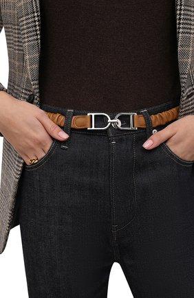 Женский кожаные ремень JIL SANDER бежевого цвета, арт. JSWT800436-WTS01046 | Фото 2 (Кросс-КТ: Тонкие)