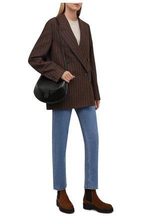 Женские замшевые ботинки POLO RALPH LAUREN коричневого цвета, арт. 818819503 | Фото 2 (Материал внутренний: Натуральная кожа; Каблук высота: Низкий; Подошва: Платформа; Женское Кросс-КТ: Челси-ботинки)