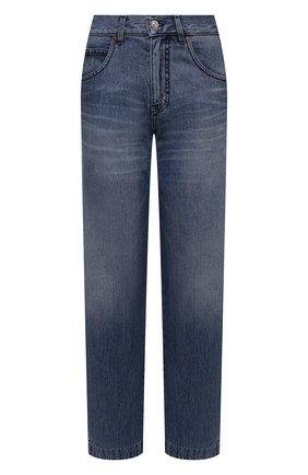 Женские джинсы VICTORIA BECKHAM синего цвета, арт. 1521DJE002985A   Фото 1 (Материал внешний: Хлопок; Длина (брюки, джинсы): Стандартные; Стили: Кэжуэл; Кросс-КТ: Деним; Силуэт Ж (брюки и джинсы): Прямые)