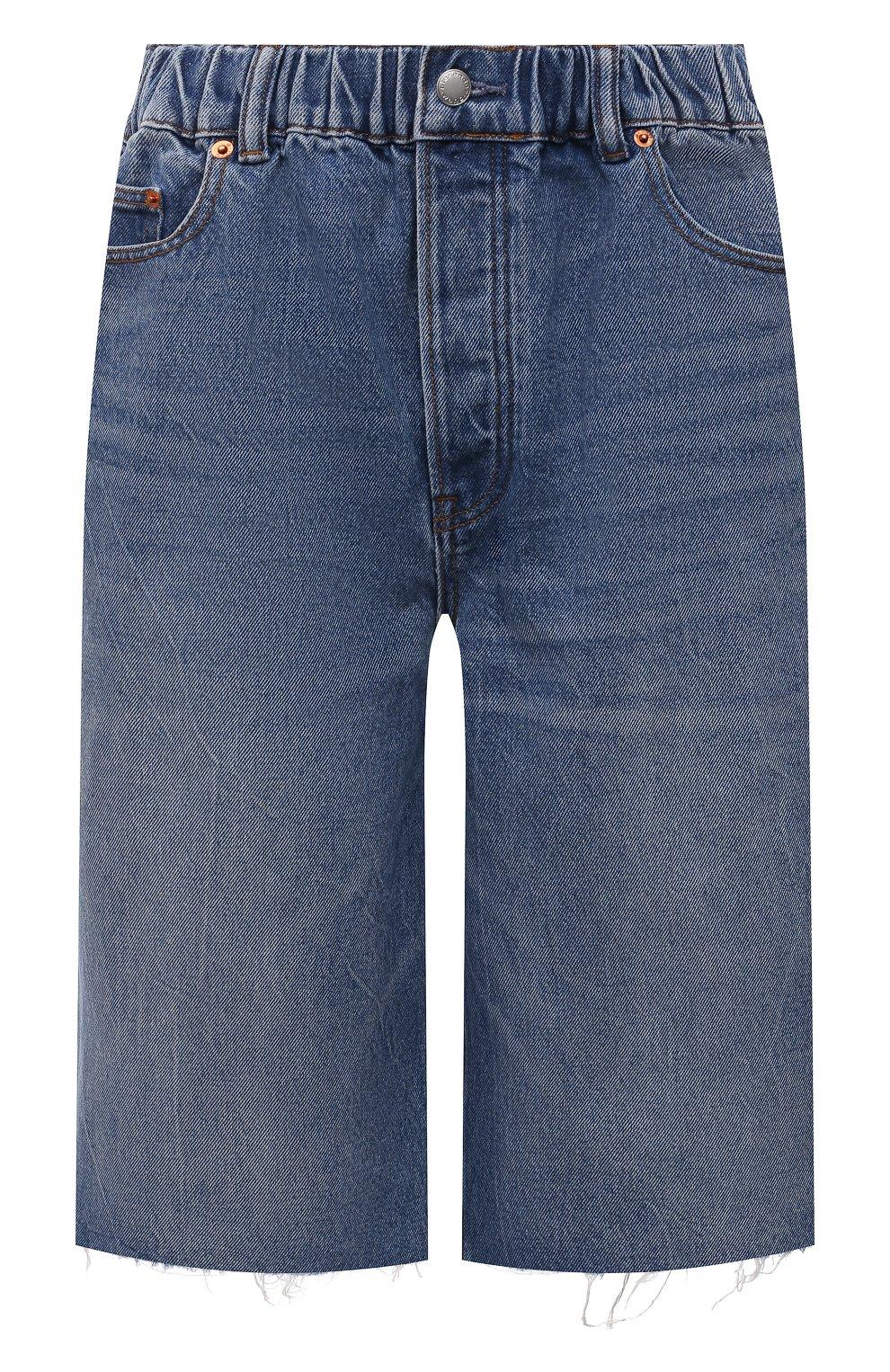 Женские джинсовые шорты DENIM X ALEXANDER WANG синего цвета, арт. 4DC4214034   Фото 1 (Женское Кросс-КТ: Шорты-одежда; Кросс-КТ: Деним, Широкие; Материал внешний: Хлопок; Длина Ж (юбки, платья, шорты): Миди; Стили: Кэжуэл)