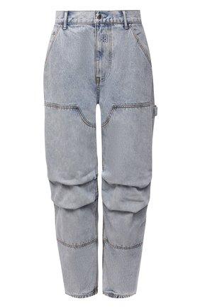 Женские джинсы DENIM X ALEXANDER WANG голубого цвета, арт. 4DC4214012   Фото 1 (Длина (брюки, джинсы): Стандартные; Материал внешний: Хлопок; Стили: Гламурный; Кросс-КТ: Деним; Силуэт Ж (брюки и джинсы): Прямые)