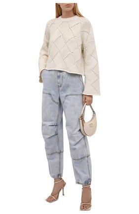 Женские джинсы DENIM X ALEXANDER WANG голубого цвета, арт. 4DC4214012   Фото 2 (Длина (брюки, джинсы): Стандартные; Материал внешний: Хлопок; Стили: Гламурный; Кросс-КТ: Деним; Силуэт Ж (брюки и джинсы): Прямые)