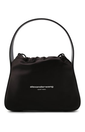 Женская сумка ryan ALEXANDER WANG черного цвета, арт. 20221R18T | Фото 1 (Размер: small; Материал: Текстиль; Сумки-технические: Сумки top-handle)