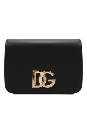 Женская сумка dg millennials DOLCE & GABBANA черного цвета, арт. BB7077/AW576   Фото 1 (Размер: small; Материал: Натуральная кожа; Ремень/цепочка: На ремешке; Сумки-технические: Сумки через плечо)