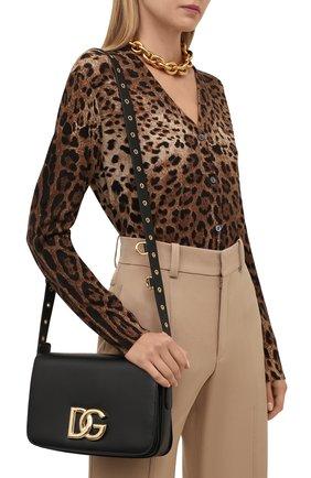Женская сумка dg millennials DOLCE & GABBANA черного цвета, арт. BB7077/AW576   Фото 2 (Размер: small; Материал: Натуральная кожа; Ремень/цепочка: На ремешке; Сумки-технические: Сумки через плечо)