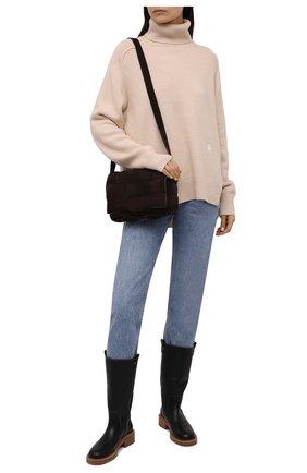 Женские кожаные сапоги edith CHLOÉ черного цвета, арт. CHC21W52079   Фото 2 (Каблук высота: Низкий; Материал внутренний: Натуральная кожа; Подошва: Платформа; Высота голенища: Средние; Каблук тип: Устойчивый)