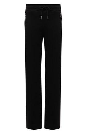 Женские хлопковые брюки DRIES VAN NOTEN черного цвета, арт. 212-011122-3612 | Фото 1 (Материал внешний: Хлопок; Стили: Кэжуэл; Женское Кросс-КТ: Брюки-одежда; Силуэт Ж (брюки и джинсы): Прямые; Длина (брюки, джинсы): Удлиненные)