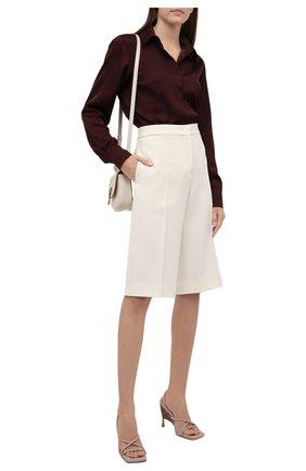 Женская рубашка из вискозы DRIES VAN NOTEN бордового цвета, арт. 212-010759-3159 | Фото 2 (Материал внешний: Вискоза; Стили: Гламурный; Принт: Без принта; Женское Кросс-КТ: Рубашка-одежда; Рукава: Длинные; Длина (для топов): Стандартные)