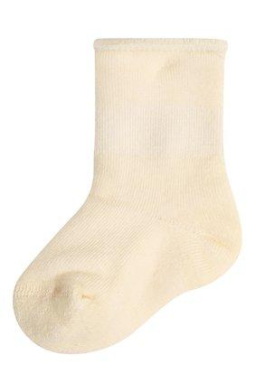 Детские шерстяные носки WOOL&COTTON кремвого цвета, арт. NPML | Фото 1 (Материал: Шерсть)