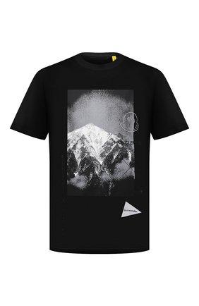 Мужская футболка 2 moncler 1952 moncler genius x and wander MONCLER GENIUS черного цвета, арт. G2-092-8C000-10-829FB | Фото 1 (Материал внешний: Хлопок; Принт: С принтом; Рукава: Короткие; Стили: Спорт-шик; Длина (для топов): Стандартные)