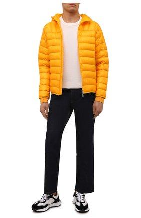 Мужская пуховая куртка 2 moncler 1952 MONCLER GENIUS оранжевого цвета, арт. G2-092-1A000-19-595B1 | Фото 2 (Материал утеплителя: Пух и перо; Длина (верхняя одежда): Короткие; Рукава: Длинные; Материал внешний: Синтетический материал; Материал подклада: Синтетический материал; Кросс-КТ: Куртка; Мужское Кросс-КТ: пуховик-короткий; Стили: Спорт-шик)