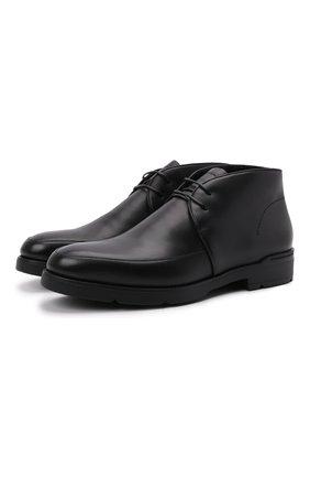 Мужские кожаные ботинки cortina ERMENEGILDO ZEGNA черного цвета, арт. A5141X-LHMES | Фото 1 (Материал утеплителя: Натуральный мех; Подошва: Плоская; Мужское Кросс-КТ: Ботинки-обувь, зимние ботинки, Дезерты-обувь)