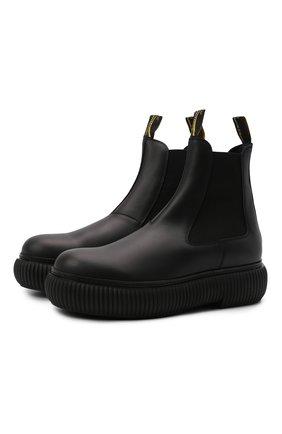 Мужские кожаные челси LANVIN черного цвета, арт. FM-B0LI01-GRIF-A21 | Фото 1 (Подошва: Массивная; Каблук высота: Высокий; Материал внутренний: Натуральная кожа; Мужское Кросс-КТ: Сапоги-обувь, Челси-обувь)