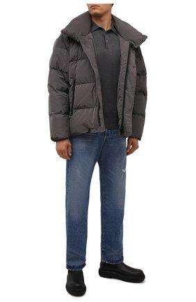 Мужские кожаные челси LANVIN черного цвета, арт. FM-B0LI01-GRIF-A21 | Фото 2 (Подошва: Массивная; Каблук высота: Высокий; Материал внутренний: Натуральная кожа; Мужское Кросс-КТ: Сапоги-обувь, Челси-обувь)