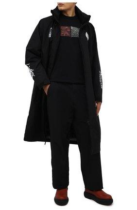 Мужские кожаные челси LANVIN красного цвета, арт. FM-B0LI01-GRIF-A21 | Фото 2 (Материал внутренний: Натуральная кожа; Мужское Кросс-КТ: Сапоги-обувь, Челси-обувь; Каблук высота: Высокий; Подошва: Массивная)