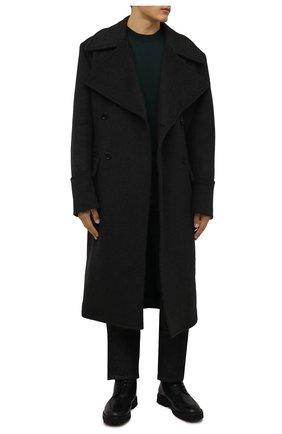 Мужские кожаные ботинки KENZO черного цвета, арт. FB65BT013L59 | Фото 2 (Материал утеплителя: Натуральный мех; Подошва: Плоская; Мужское Кросс-КТ: Ботинки-обувь, зимние ботинки, Байкеры-обувь)