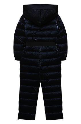 Детский пуховый комбинезон FREEDOMDAY темно-синего цвета, арт. IFRJG880AB-782-RD | Фото 2 (Материал подклада: Синтетический материал; Материал утеплителя: Пух и перо; Материал внешний: Синтетический материал; Девочки Кросс-КТ: Комбинезон-верхняя одежда; Рукава: Длинные)