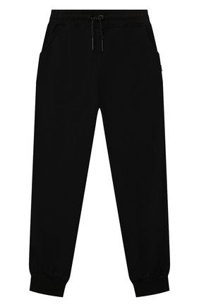Детские хлопковые джоггеры SPRAYGROUND черного цвета, арт. SPY242 | Фото 1 (Материал внешний: Хлопок; Мальчики Кросс-КТ: Брюки-спорт)