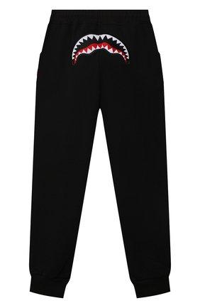 Детские хлопковые джоггеры SPRAYGROUND черного цвета, арт. SPY242 | Фото 2 (Материал внешний: Хлопок; Мальчики Кросс-КТ: Брюки-спорт)