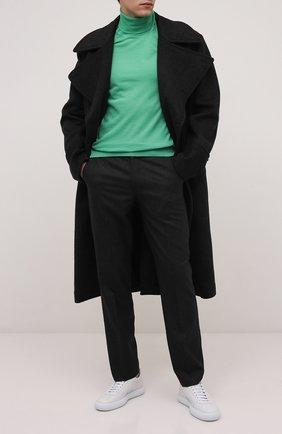 Мужской шерстяная водолазка BOSS зеленого цвета, арт. 50392083 | Фото 2 (Материал внешний: Шерсть; Мужское Кросс-КТ: Водолазка-одежда; Принт: Без принта; Стили: Кэжуэл; Рукава: Длинные; Длина (для топов): Стандартные)