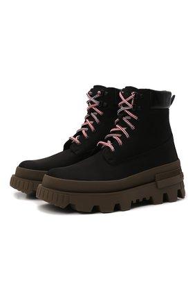 Мужские кожаные ботинки mon corp MONCLER черного цвета, арт. G2-09A-4F710-00-02SY1 | Фото 1 (Материал внутренний: Натуральная кожа; Мужское Кросс-КТ: Ботинки-обувь, Хайкеры-обувь; Каблук высота: Высокий; Подошва: Массивная)