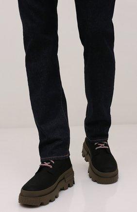Мужские кожаные ботинки mon corp MONCLER черного цвета, арт. G2-09A-4F710-00-02SY1 | Фото 2 (Материал внутренний: Натуральная кожа; Мужское Кросс-КТ: Ботинки-обувь, Хайкеры-обувь; Каблук высота: Высокий; Подошва: Массивная)