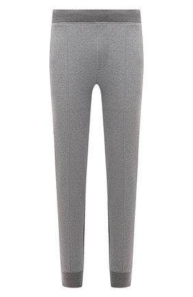 Мужские джоггеры CORNELIANI серого цвета, арт. 88G562-1825017/00 | Фото 1 (Материал внешний: Хлопок, Синтетический материал; Длина (брюки, джинсы): Стандартные; Силуэт М (брюки): Джоггеры; Кросс-КТ: Спорт; Стили: Спорт-шик)