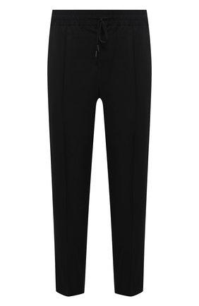 Мужские шерстяные брюки ISABEL BENENATO черного цвета, арт. UW15F21 | Фото 1 (Длина (брюки, джинсы): Укороченные; Материал внешний: Шерсть; Случай: Повседневный; Стили: Минимализм)
