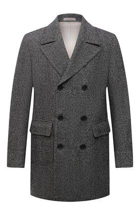 Мужской шерстяное пальто CORNELIANI темно-серого цвета, арт. 881502-1812123/90 | Фото 1 (Материал внешний: Шерсть; Длина (верхняя одежда): До середины бедра; Рукава: Длинные; Материал подклада: Вискоза; Стили: Кэжуэл; Мужское Кросс-КТ: пальто-верхняя одежда)