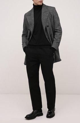 Мужской шерстяное пальто CORNELIANI темно-серого цвета, арт. 881502-1812123/90 | Фото 2 (Материал внешний: Шерсть; Длина (верхняя одежда): До середины бедра; Рукава: Длинные; Материал подклада: Вискоза; Стили: Кэжуэл; Мужское Кросс-КТ: пальто-верхняя одежда)
