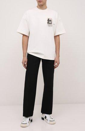 Мужские кожаные кеды 2zero DOLCE & GABBANA белого цвета, арт. CS1863/A0838   Фото 2 (Материал внутренний: Натуральная кожа; Подошва: Массивная)