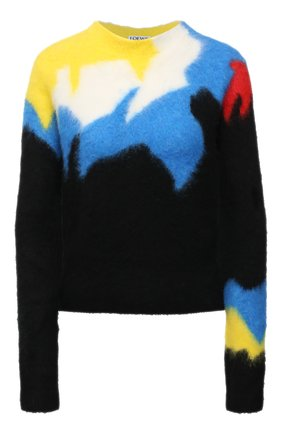 Женский свитер LOEWE черного цвета, арт. S540Y14K66 | Фото 1 (Материал внешний: Синтетический материал; Стили: Кэжуэл; Рукава: Длинные; Длина (для топов): Стандартные; Женское Кросс-КТ: Свитер-одежда)