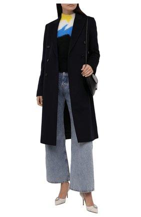 Женский свитер LOEWE черного цвета, арт. S540Y14K66 | Фото 2 (Материал внешний: Синтетический материал; Стили: Кэжуэл; Рукава: Длинные; Длина (для топов): Стандартные; Женское Кросс-КТ: Свитер-одежда)