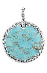 Женские кулон DAVID YURMAN бесцветного цвета, арт. D16997DSSDXODI | Фото 1 (Драгоценные камни: Другие, Бриллианты; Материал сплава: Серебро)