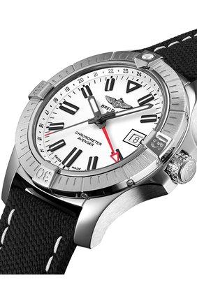 Мужские часы avenger automatic gmt 43 BREITLING бесцветного цвета, арт. A32397101A1X2   Фото 2 (Механизм: Автомат; Материал корпуса: Сталь; Цвет циферблата: Белый)