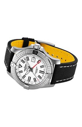 Мужские часы avenger automatic gmt 43 BREITLING бесцветного цвета, арт. A32397101A1X2   Фото 3 (Механизм: Автомат; Материал корпуса: Сталь; Цвет циферблата: Белый)