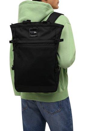 Мужской текстильный рюкзак YOHJI YAMAMOTO черного цвета, арт. HX-I54-661 | Фото 2 (Материал: Текстиль)