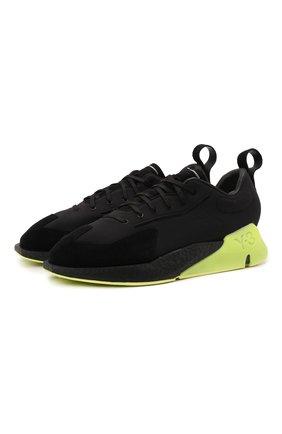 Мужские комбинированные кроссовки orisan Y-3 черного цвета, арт. GZ9138/M | Фото 1 (Подошва: Массивная; Материал внутренний: Текстиль, Натуральная кожа; Материал внешний: Текстиль; Стили: Спорт)