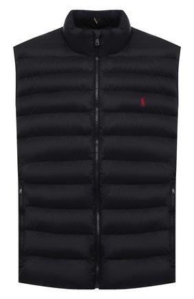 Мужской утепленный жилет POLO RALPH LAUREN черного цвета, арт. 711810898/PRL BS   Фото 1 (Материал внешний: Синтетический материал; Материал подклада: Синтетический материал; Кросс-КТ: Куртка, Пуховик; Стили: Кэжуэл; Big sizes: Big Sizes; Длина (верхняя одежда): Короткие)
