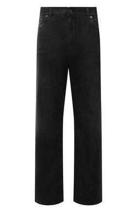 Мужские джинсы DOLCE & GABBANA темно-серого цвета, арт. GWVNXD/G8E03   Фото 1 (Материал внешний: Хлопок; Кросс-КТ: Деним; Силуэт М (брюки): Широкие; Стили: Гранж; Длина (брюки, джинсы): Стандартные)