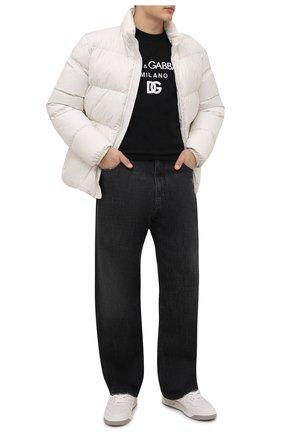 Мужские джинсы DOLCE & GABBANA темно-серого цвета, арт. GWVNXD/G8E03   Фото 2 (Материал внешний: Хлопок; Кросс-КТ: Деним; Силуэт М (брюки): Широкие; Стили: Гранж; Длина (брюки, джинсы): Стандартные)