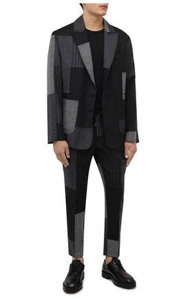 Мужские брюки DOLCE & GABBANA темно-серого цвета, арт. GW08AT/GES55 | Фото 2 (Материал внешний: Шерсть; Случай: Повседневный; Стили: Бохо)