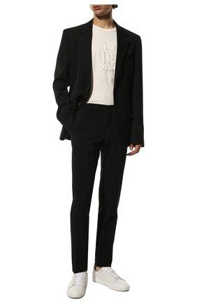Мужские шерстяные брюки DOLCE & GABBANA черного цвета, арт. GY10MT/FUBEC   Фото 2 (Материал внешний: Шерсть; Длина (брюки, джинсы): Стандартные; Материал подклада: Вискоза; Случай: Формальный; Стили: Классический)