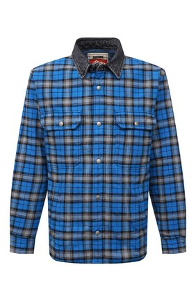 Мужская утепленная куртка DIESEL синего цвета, арт. A03340/0CEAY | Фото 1 (Длина (верхняя одежда): Короткие; Рукава: Длинные; Материал внешний: Хлопок; Материал подклада: Синтетический материал; Кросс-КТ: Куртка; Мужское Кросс-КТ: утепленные куртки; Стили: Гранж)