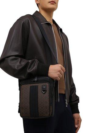 Мужская сумка mackao BALLY черного цвета, арт. MACKA0.STM/01 | Фото 2 (Ремень/цепочка: На ремешке; Материал: Текстиль)