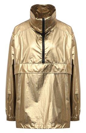 Женская анорак BOSS золотого цвета, арт. 50462759   Фото 1 (Рукава: Длинные; Длина (верхняя одежда): Короткие; Материал внешний: Синтетический материал; Стили: Спорт-шик; Кросс-КТ: Куртка)