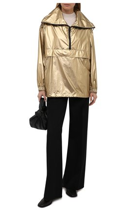 Женская анорак BOSS золотого цвета, арт. 50462759   Фото 2 (Рукава: Длинные; Длина (верхняя одежда): Короткие; Материал внешний: Синтетический материал; Стили: Спорт-шик; Кросс-КТ: Куртка)